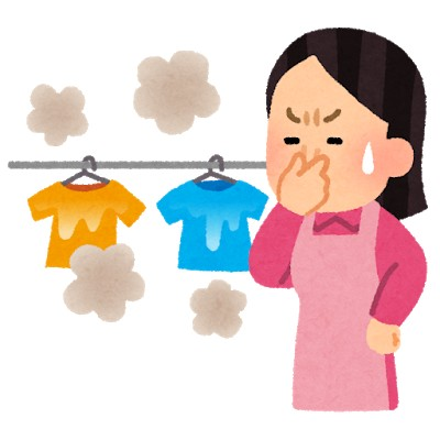部屋干しでの衣類のイヤな匂いを消す3つの方法!